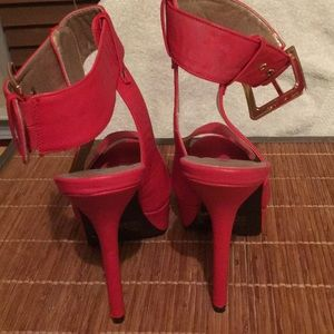 78a26c68e2a Charlotte Russe Shoes - Shoes Red 5 inch heels and 1 inch platform